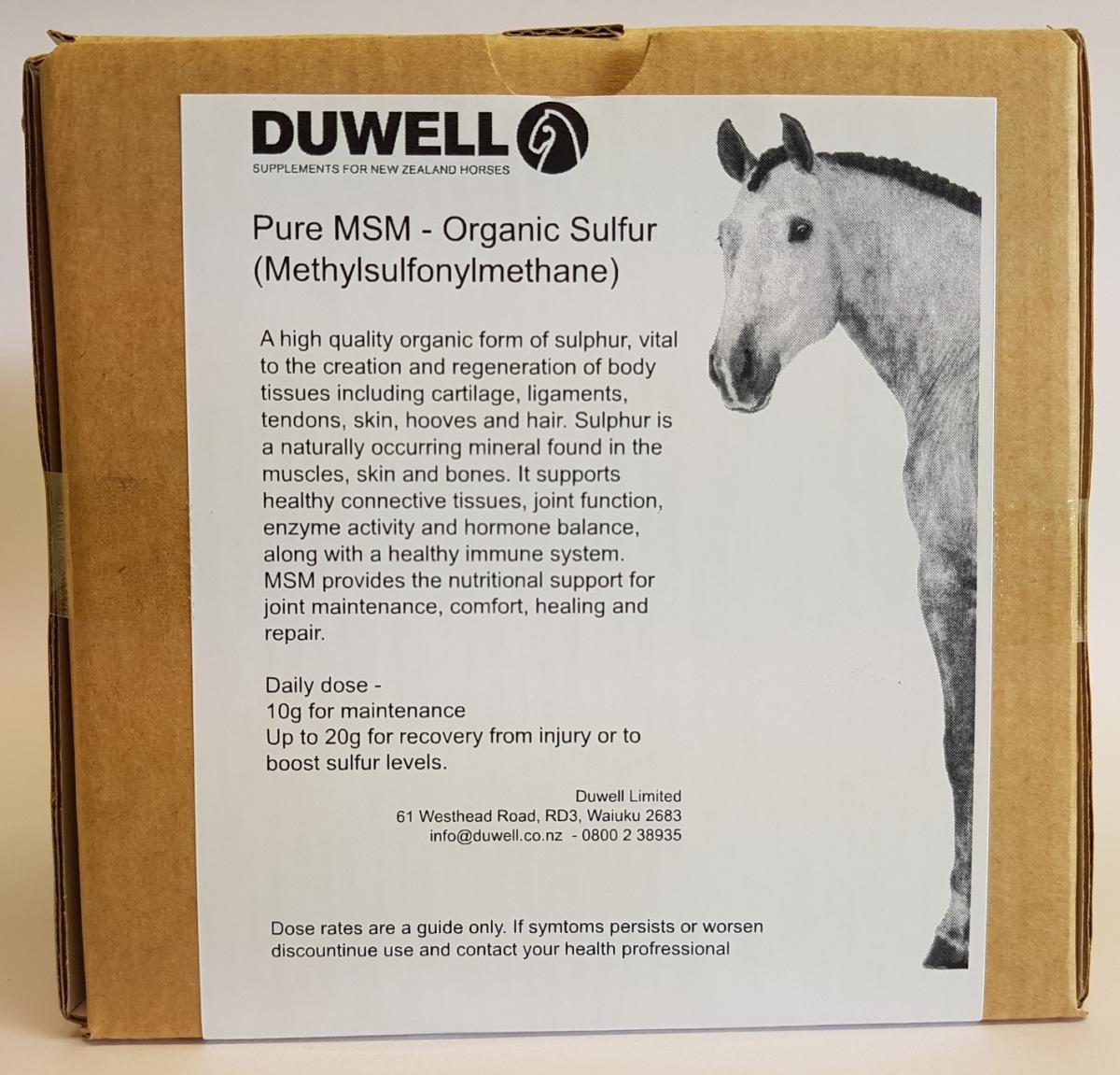 MSM | Duwell Ltd | Equine Supplements for a Better Horse